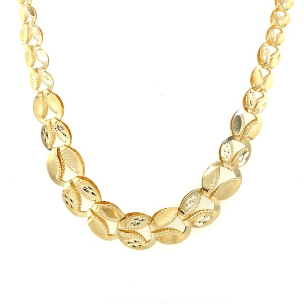 10K Yellow Gold Ladies Fancy Necklace 17