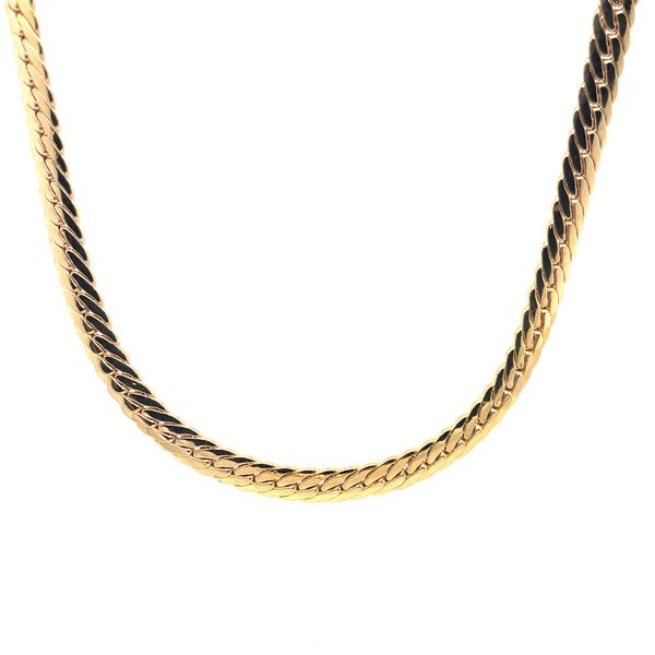 10K Yellow Gold Fancy Necklace 18