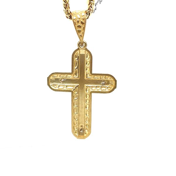 10K Yellow Gold Cross Charm Image 2 Kingsmark Jewelers Jacksonville, FL