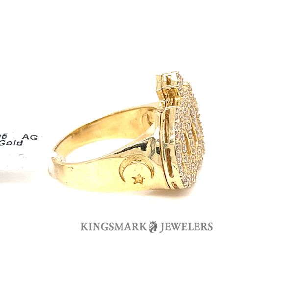 10K Yellow Gold CZ Mens