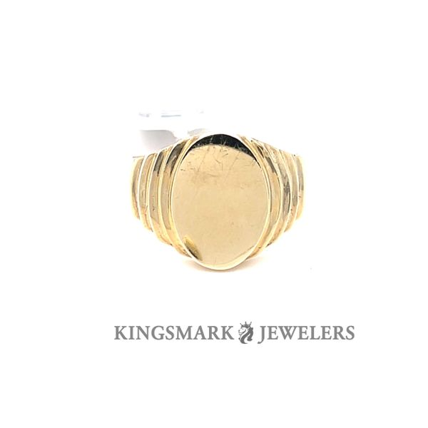 10K Yellow Gold Oval Signet Men's Ring Kingsmark Jewelers Jacksonville, FL