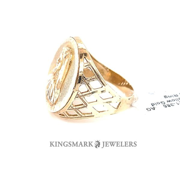 10K Yellow Gold Men's Ring V.Mary Image 2 Kingsmark Jewelers Jacksonville, FL