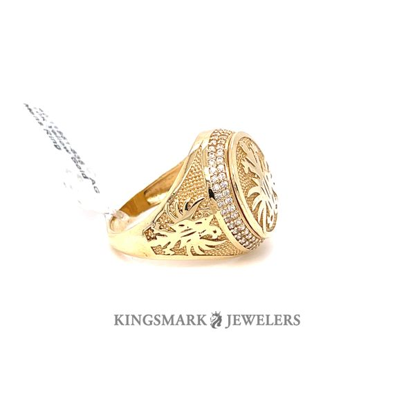 10K Yellow Gold Mens Ring Image 2 Kingsmark Jewelers Jacksonville, FL