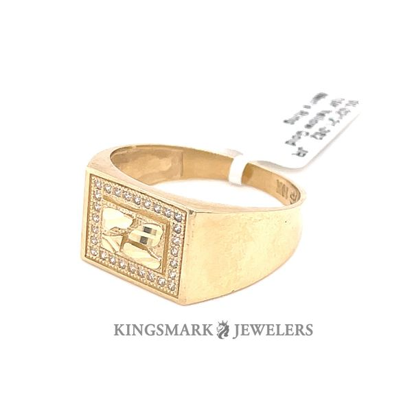 10K Yellow Gold Men's Ring Image 2 Kingsmark Jewelers Jacksonville, FL