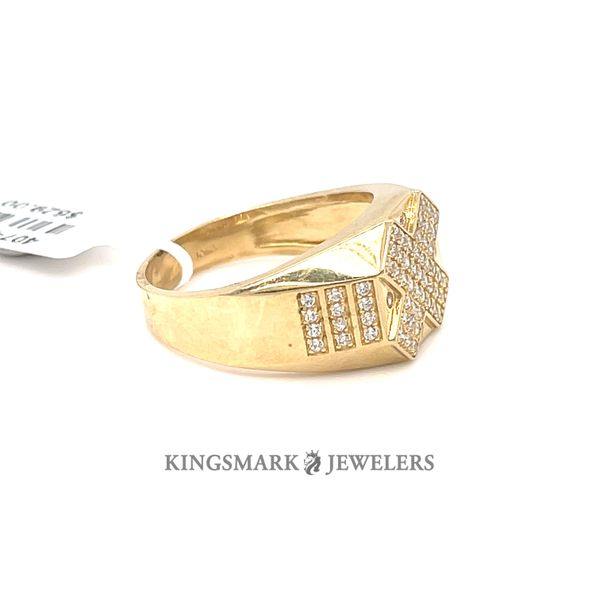 10K Yellow Gold Men's CZ Ring Image 2 Kingsmark Jewelers Jacksonville, FL
