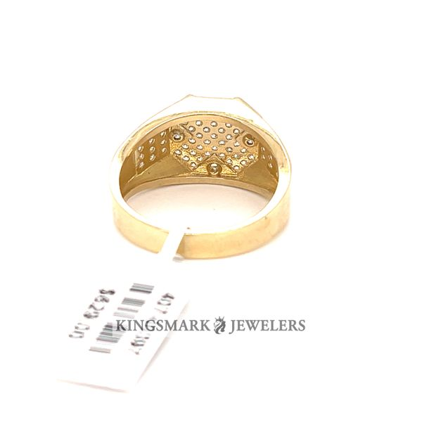 10K Yellow Gold Men's CZ Ring Image 3 Kingsmark Jewelers Jacksonville, FL