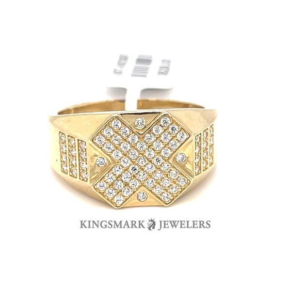 10K Yellow Gold Men's CZ Ring Kingsmark Jewelers Jacksonville, FL