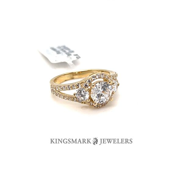 10K Yellow Gold CZ Ladies Ring Kingsmark Jewelers Jacksonville, FL