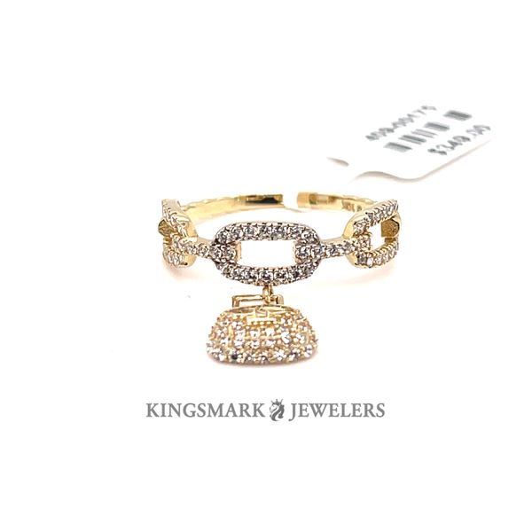 10K Yellow Gold CZ Ladies Fancy Ring Kingsmark Jewelers Jacksonville, FL