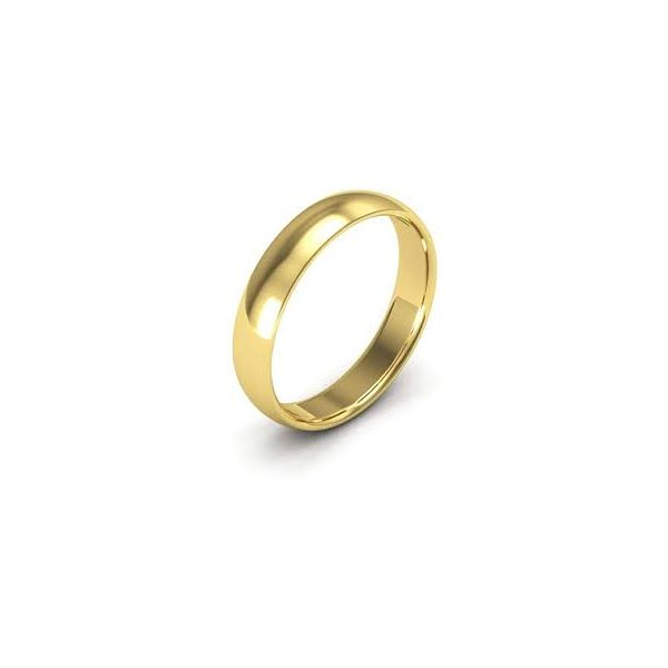 14K  Yellow Gold Wedding Ring 4mm Size 11