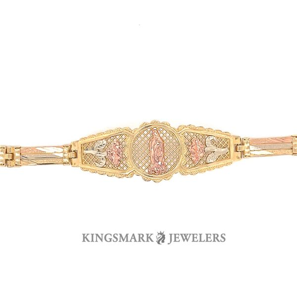 14K Yellow Gold 3-Tone Ladies Bracelet Image 2 Kingsmark Jewelers Jacksonville, FL