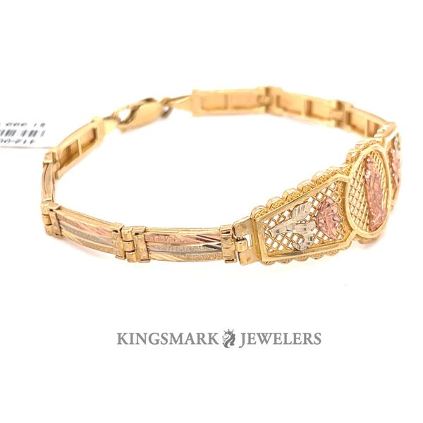 14K Yellow Gold 3-Tone Ladies Bracelet Image 3 Kingsmark Jewelers Jacksonville, FL
