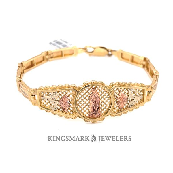 14K Yellow Gold 3-Tone Ladies Bracelet Kingsmark Jewelers Jacksonville, FL