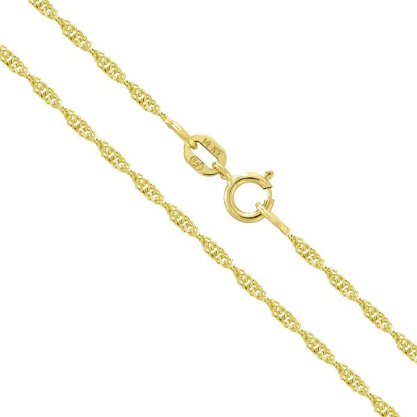14K Yellow Gold Twisted Rope  18