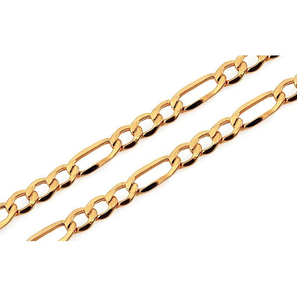 14K Yellow Gold Figaro Chain 2.5mm 24