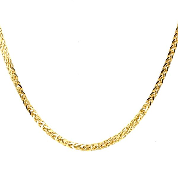 14K Yellow Gold Chain Franco 1.5mm 20