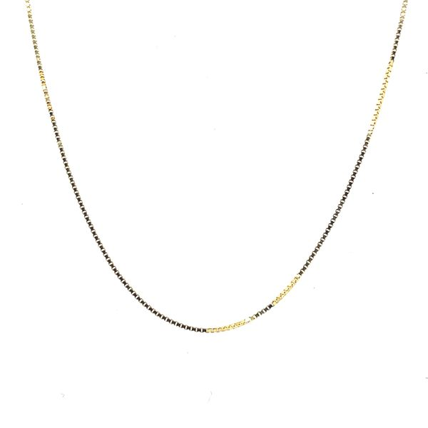 14K Yellow Gold Box Chain  22