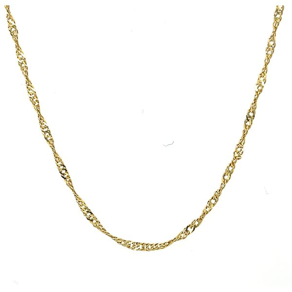 14K Yellow Gold Singapore Chain 18