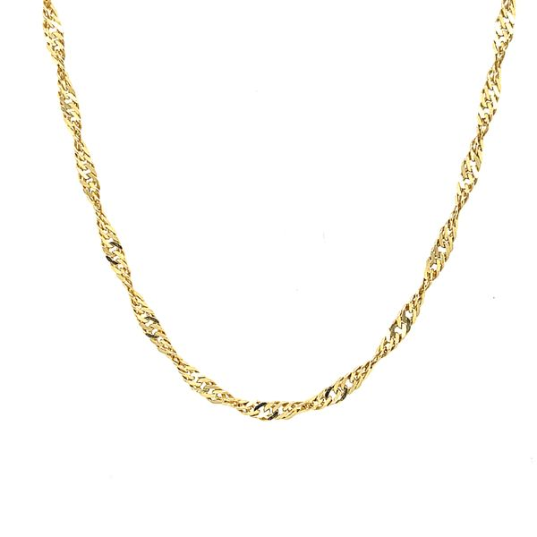 14K Yellow Gold Singapore Chain 20