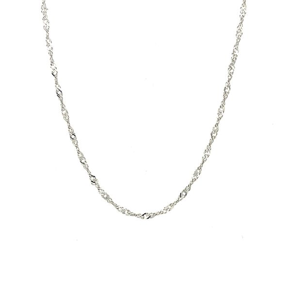 14K White Gold Singapore Chain 18