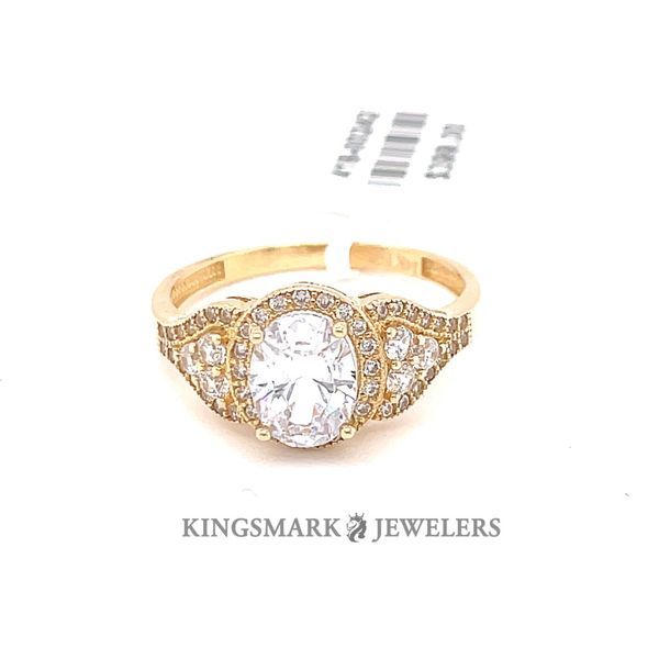 14K Yellow Gold CZ Ladies Ring Kingsmark Jewelers Jacksonville, FL