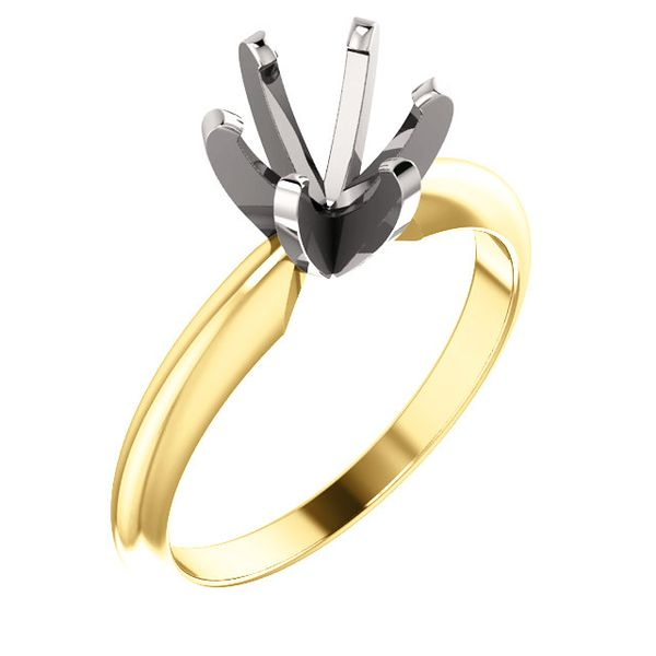 14K Yellow and White Gold Tiffany Solitaire Engagement Ring Image 2 Koerber's Fine Jewelry, Inc. New Albany, IN