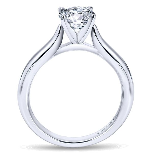 14K White Gold Round Diamond Solitaire Engagement Ring Image 3 Koerber's Fine Jewelry, Inc. New Albany, IN
