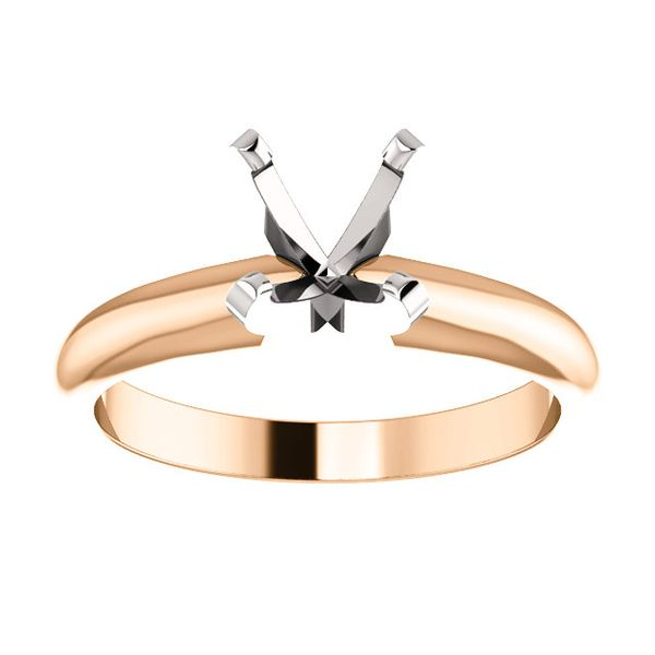 14K Rose Gold Tiffany Solitaire Engagement Ring Koerber's Fine Jewelry, Inc. New Albany, IN