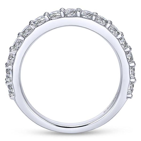 Lady's 14K White Gold Round Diamond Wedding band Image 2  ,