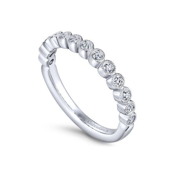 Lady's 14K White Gold Bezel Set Band Image 2  ,