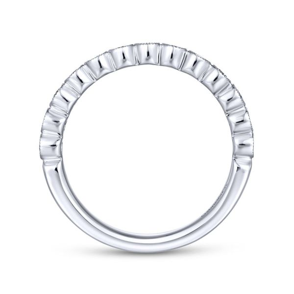 Lady's 14K White Gold Bezel Set Band Image 3  ,