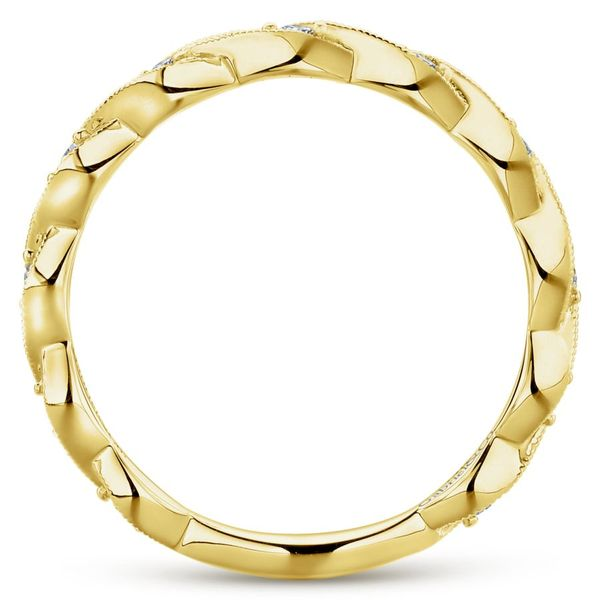 Lady's 14K Yellow Gold Entwined Wedding band. Image 3  ,