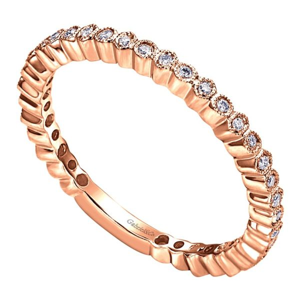Lady's 14K Rose Gold Wedding Band Image 2  ,