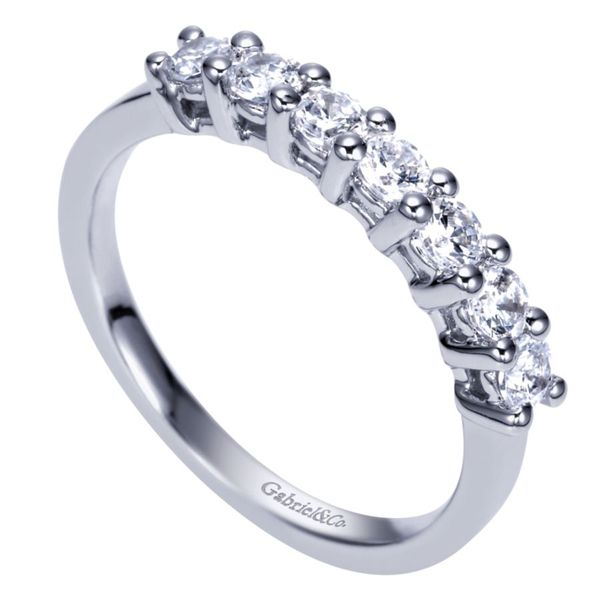 Lady's White Gold 7 Stone Anniversary Band Image 2  ,