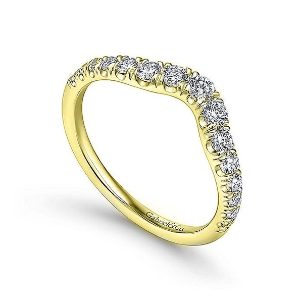 14K Yellow Gold Diamond Wedding Band Image 2  ,