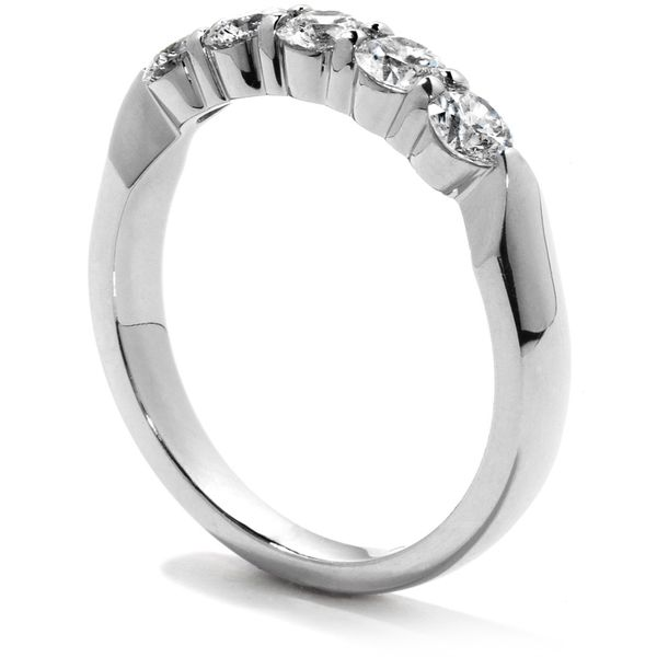 18K White Gold Five-Stone Diamond Wedding Band Image 2 Koerber's Fine Jewelry, Inc. New Albany, IN