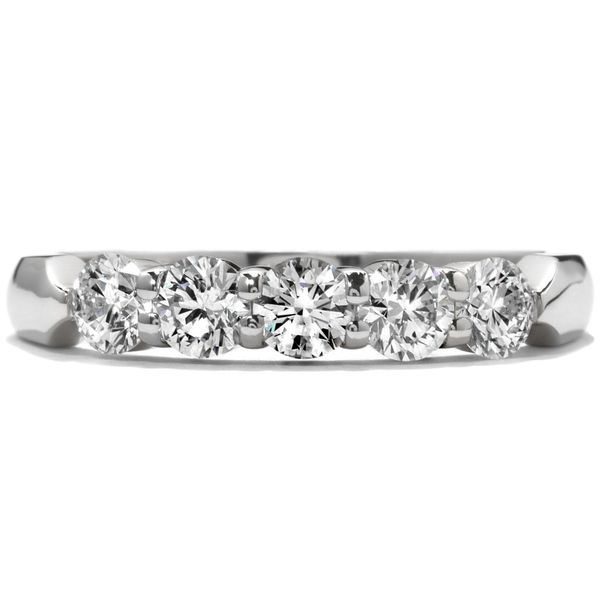 18K White Five-Stone Diamond Wedding Band Koerber's Fine Jewelry, Inc. New Albany, IN