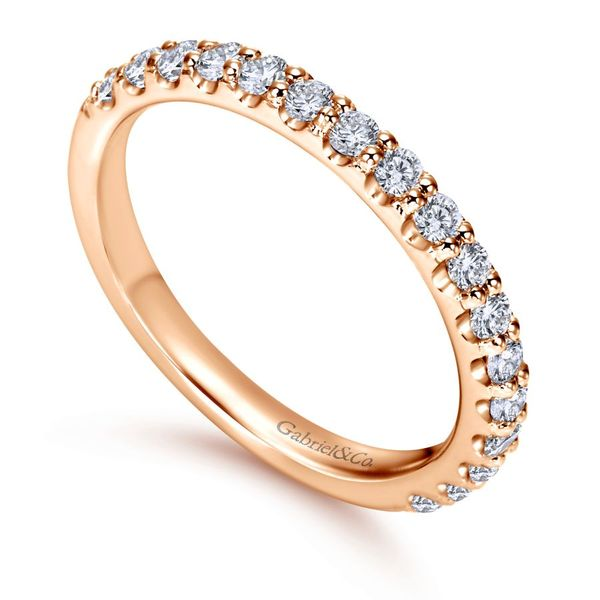 14K Rose Gold Diamond Anniversary Band Image 3 Koerber's Fine Jewelry, Inc. New Albany, IN