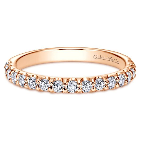 14K Rose Gold Diamond Anniversary Band Koerber's Fine Jewelry, Inc. New Albany, IN