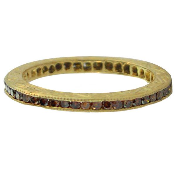 18K Yellow Gold Channel Set Stackable or Wedding Band Koerber's Fine Jewelry, Inc. New Albany, IN