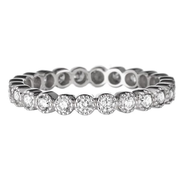 18K White Gold Bezel Set Stackable or Wedding Band Koerber's Fine Jewelry, Inc. New Albany, IN