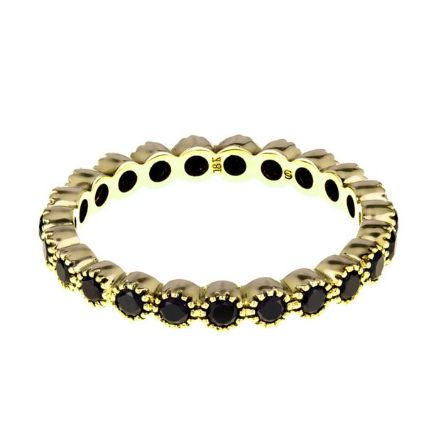 18K Yellow Gold Bezel Set Stackable or Wedding Band Koerber's Fine Jewelry, Inc. New Albany, IN