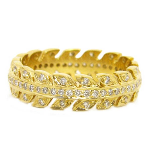 18K Yellow Gold Arrow Eternity Stackable or Wedding Band Koerber's Fine Jewelry, Inc. New Albany, IN