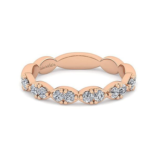 14K Rose Gold Diamond Stackable or Wedding Band Koerber's Fine Jewelry, Inc. New Albany, IN