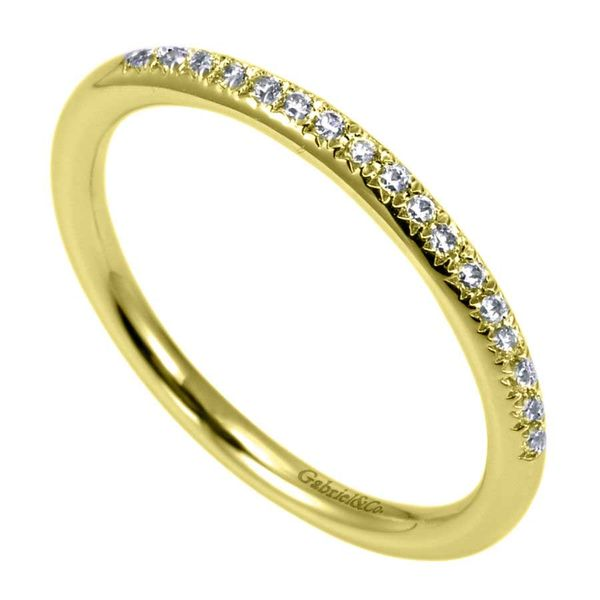 14K Yellow Gold Prong Set Diamond Stackable or Wedding Band Image 2 Koerber's Fine Jewelry, Inc. New Albany, IN