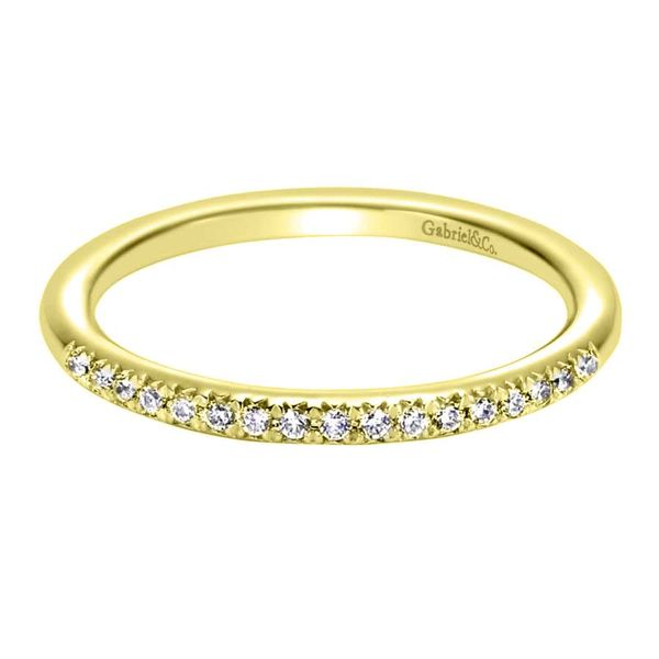 14K Yellow Gold Prong Set Diamond Stackable or Wedding Band Koerber's Fine Jewelry, Inc. New Albany, IN