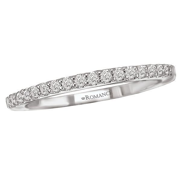 18K White Gold Romance 17-Diamond Shared Prong Diamond Wedding Band Image 2 Koerber's Fine Jewelry, Inc. New Albany, IN