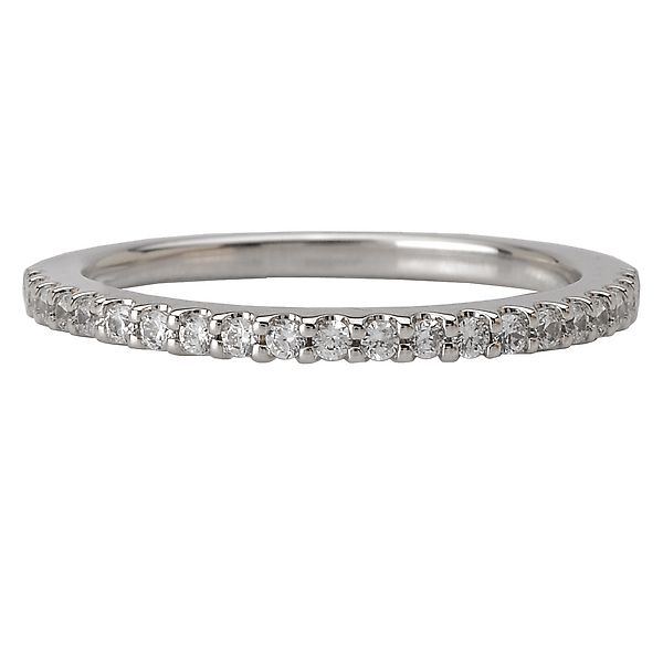 18K White Gold Romance 17-Diamond Shared Prong Diamond Wedding Band Koerber's Fine Jewelry, Inc. New Albany, IN