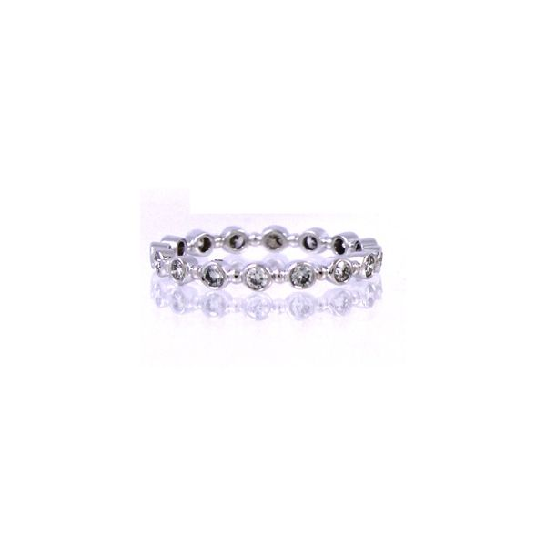 18K White Gold Petit Bubble Wedding or Stackable Band Koerber's Fine Jewelry, Inc. New Albany, IN