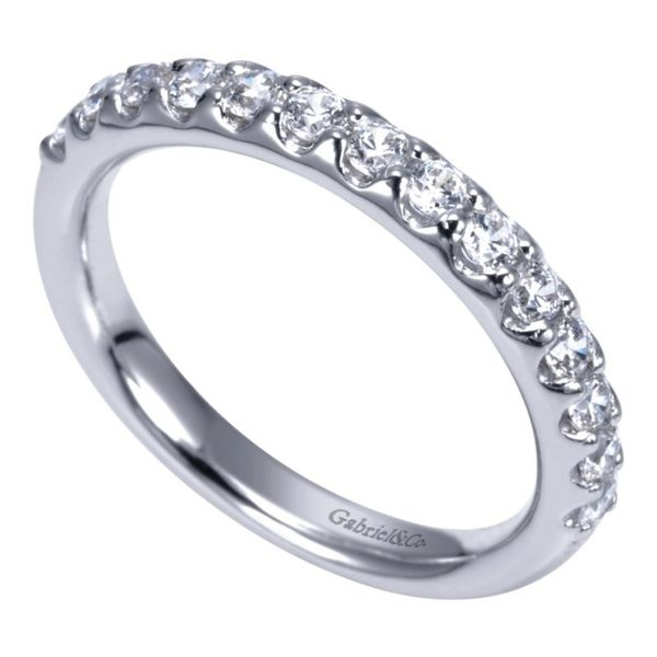 14K White Gold Round 14 Stone Diamond Anniversary Band Image 3 Koerber's Fine Jewelry, Inc. New Albany, IN
